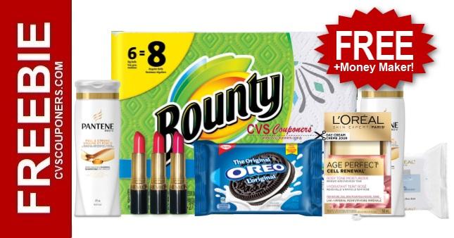 FREE Bounty Paper Towel CVS Deal