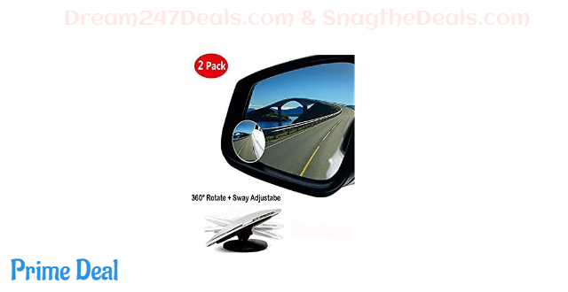 70% OFF Blind Spot Mirror 2 inches Round HD Glass Frameless Convex Rear View Mirror Pack of 2