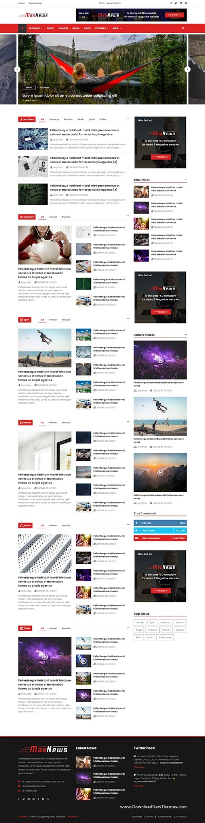 Download News & Magazine Joomla Template