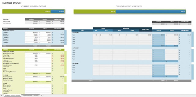 Business Budget Excel Template - ENGINEERING MANAGEMENT