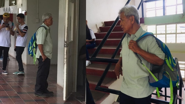 Lolo Benj is still a student at age 75