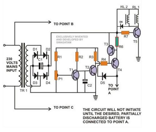 Circuit Diagram Mini Uninterruptible Power Supply (UPS