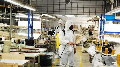 Danrem 071/Wijayakusuma, Cek Kondisi Lingkungan Pabrik Garmen, Pasca 11 Karyawannya Terpapar Covid-19