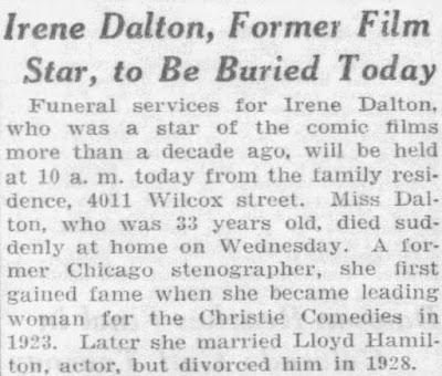 Irene Dalton Death
