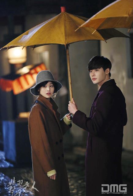 Zheng Shuang and Lee Jong Suk in 2016 c-drama Jade Lovers