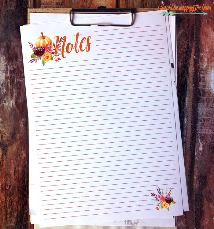 Fall Notes Pages