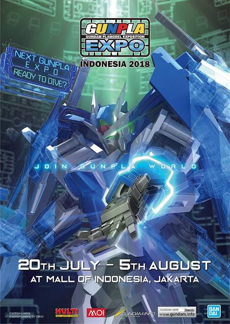 Gunpla Expo Indonesia 20 July Sampai 5 Agustus 2018 !