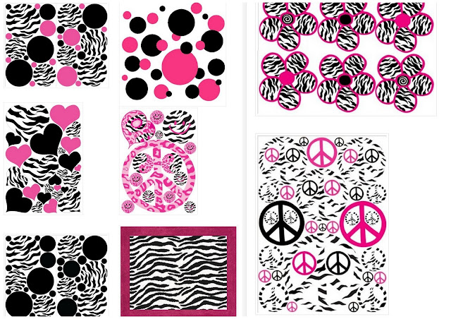 Zebra and Pink Papers for your Baby Party.