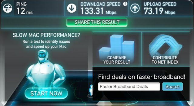 Now Check Your Internet Speedtest