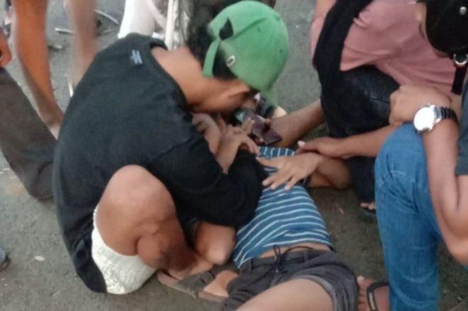 Aksi Standing Motor di Bone Berujung Petaka, Kaki Patah