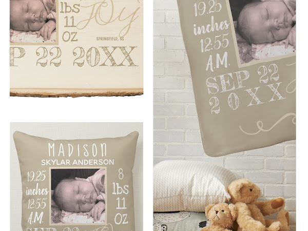 Designer Spotlight : TheArtOfVikki - Assorted baby Nursery and Birth Stats Collection