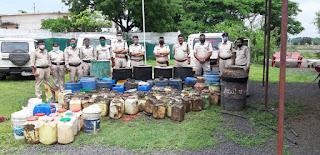 धार आबकारी विभाग के जिला स्तरीय अपराध नियंत्रण दल द्वारा 2,19,500 की शराब जप्त की