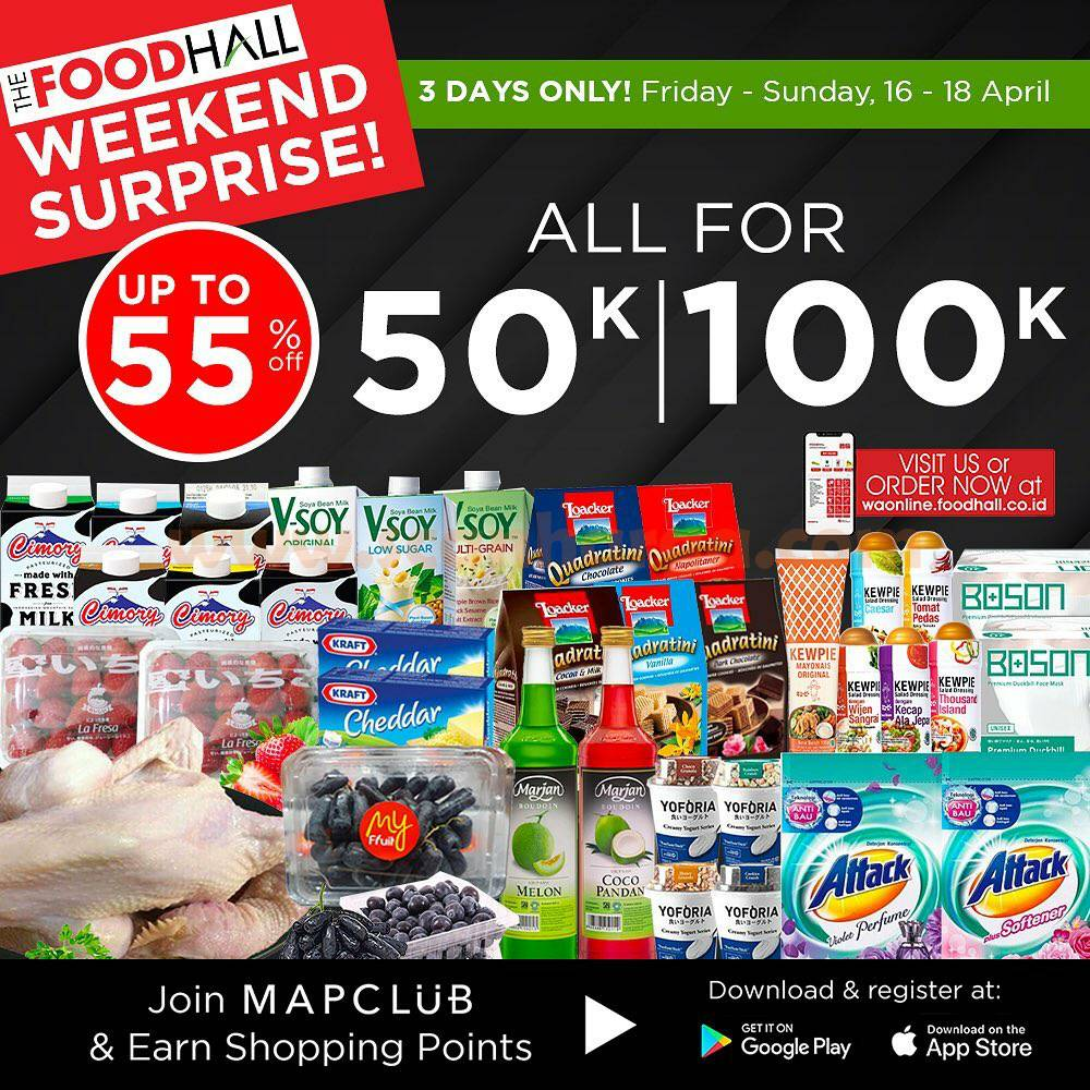 Promo JSM Foodhall Weekend Surprise Periode 16 - 18 April 2021