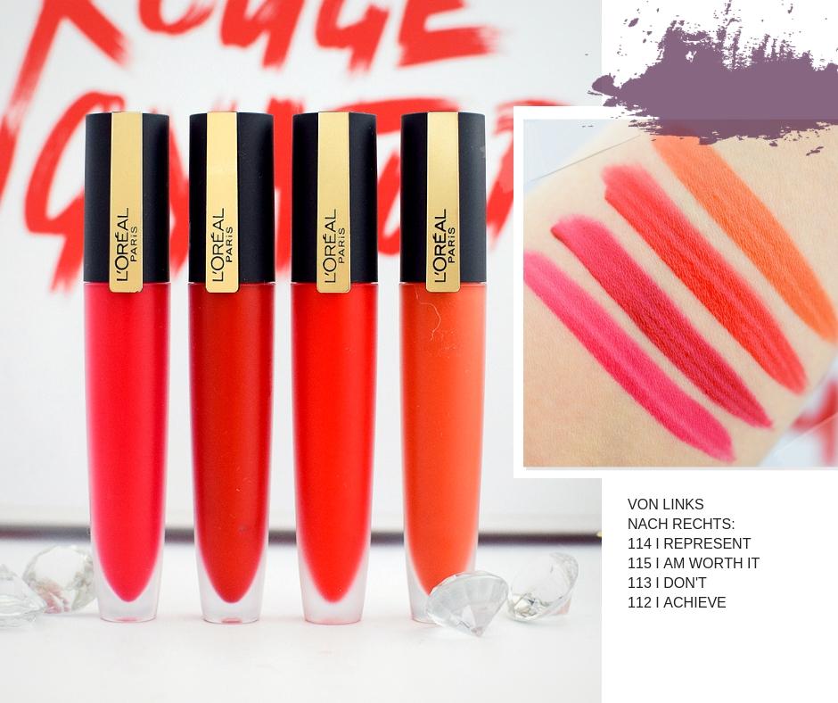 L'Oréal Paris Rouge Signature, wie gut sind die neuen Lippenstifte?