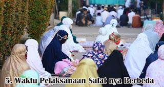 Waktu Pelaksanaan Salat nya Berbeda merupakan salah satu perbedaan mencolok Idul Adha dengan Idul Fitri