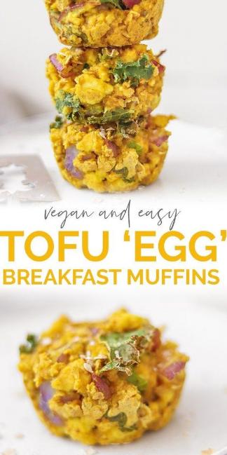 Savoury Oat And Tofu Vegan Egg Muffins