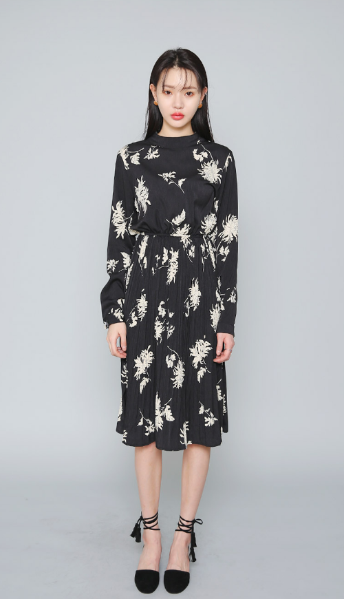 Floral Print Shirtwaist Dress