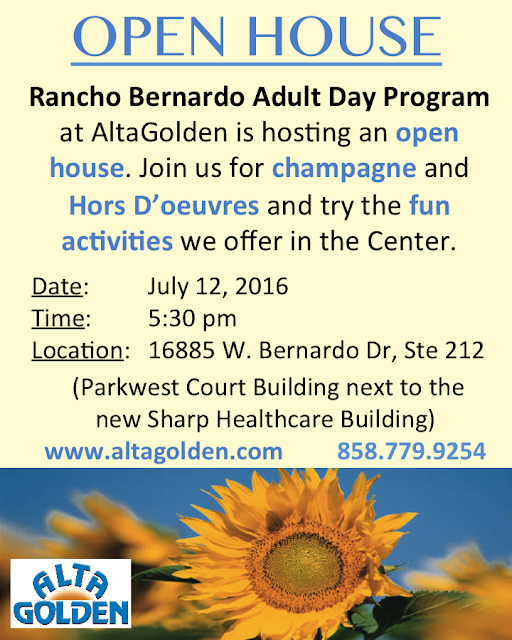 OPEN HOUSE - Rancho Bernardo Adult Day Program