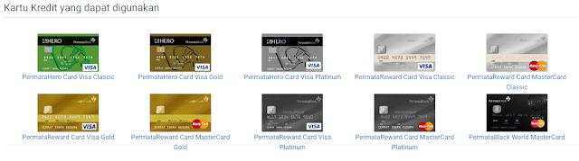 Ragam kartu Kredit yang dapat digunakan di cermati.com
