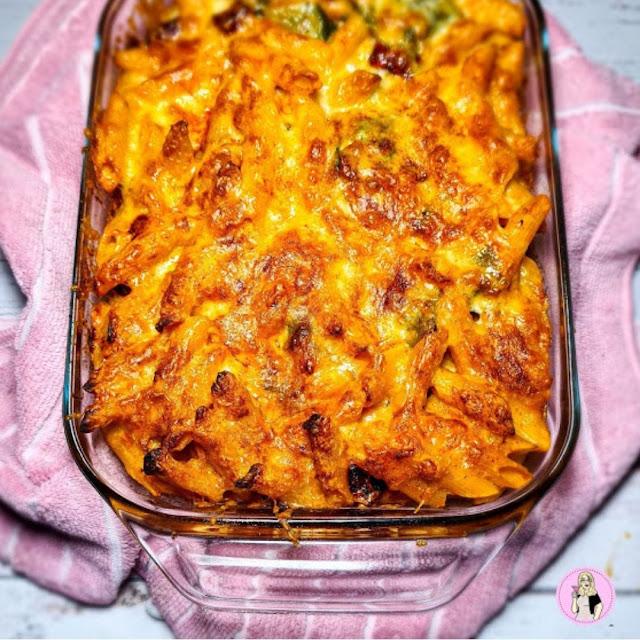 Roasted Vegetable Pasta Bake | Low Calorie Slimming Recipe