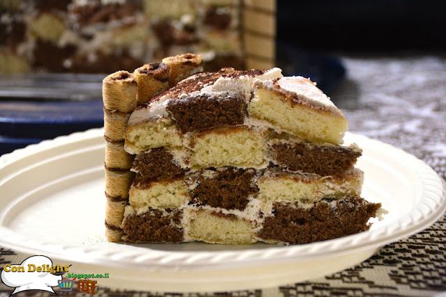 עוגת שחמט קפה Coffee chess cake