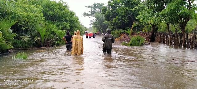 Banjir Sumba Timur Dilaporkan Hanyutkan Dua Rumah Warga