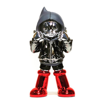 Designer Con 2020 Exclusive Astro Boy Chrome Hoodie Resin Figure by ToyQube