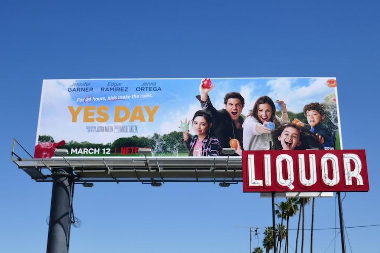 Yes Day Netflix film billboard