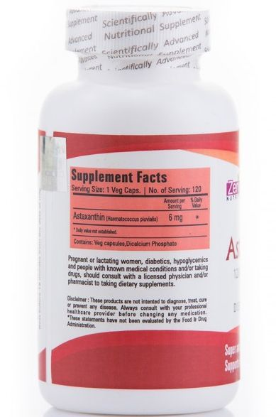 Zenith Astaxanthin Supplement Details