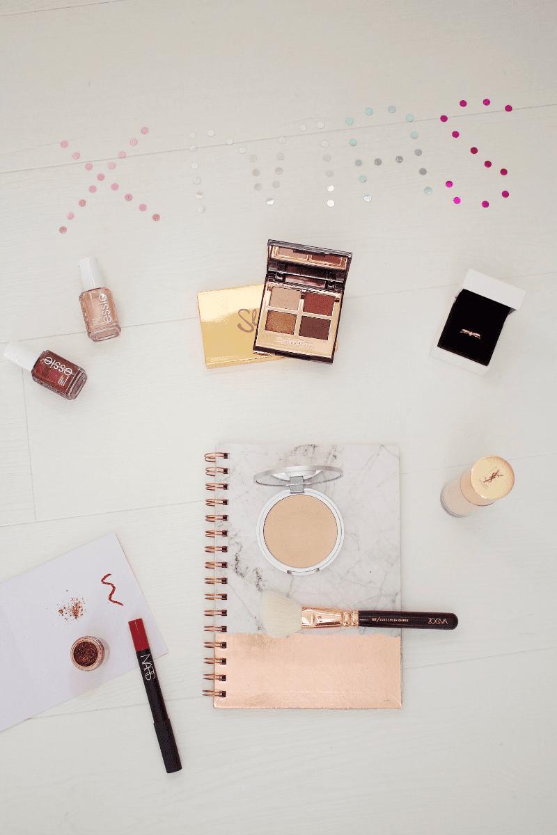 Festive makeup blog post