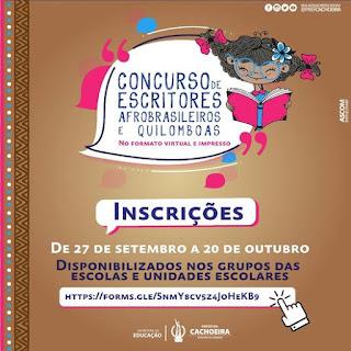 Imagem: Cachoeira: abertas as inscrições para o I Concurso para Escritores
