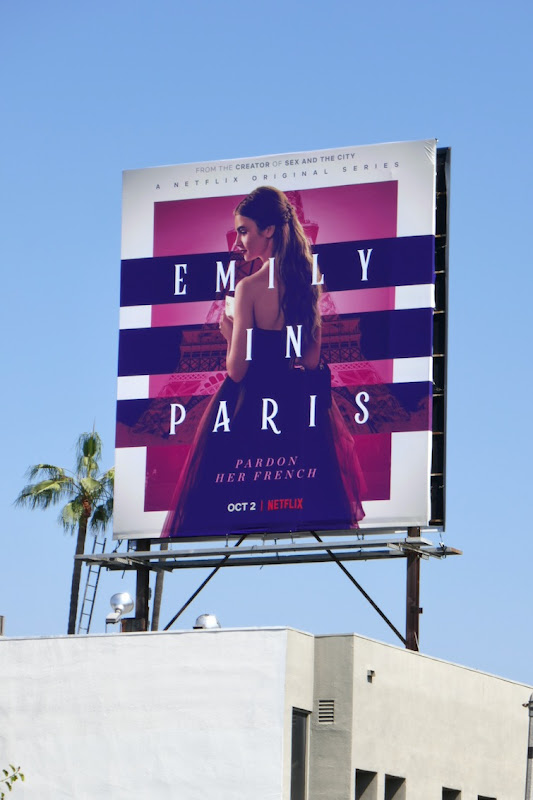 Emily in Paris series premiere billboard