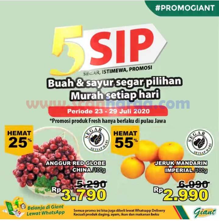 Promo GIANT Produk Fresh 5 SIP (Segar Istimewa Promosi) 23 - 29 Juli 2020 1