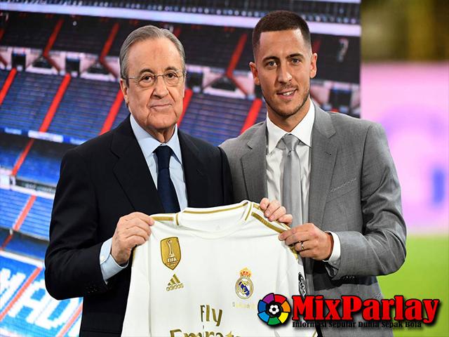 Eden Hazard Resmi Diperkenalkan Didepan Ribuan Penggemar Real Madrid Di Santiago Bernabeu