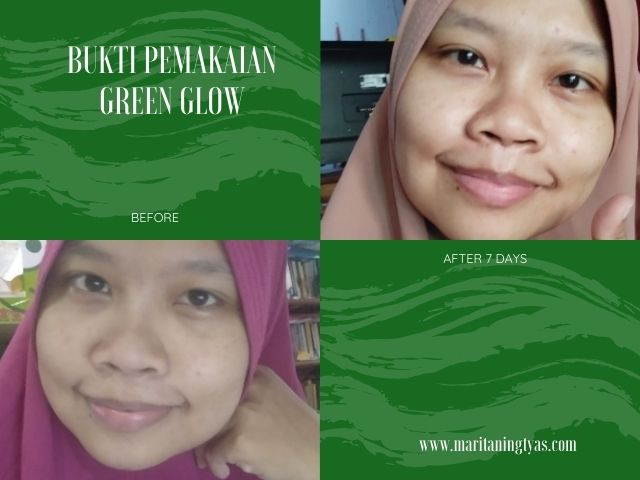 before after green glow