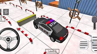 Multi Level Police Car Parking Driving Game