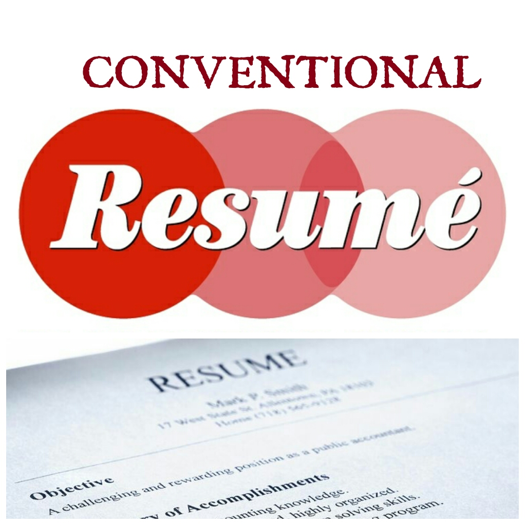 4 major types of conventional resume formats