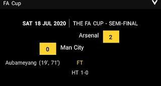 FA Final : Arsenal defeats Manchester City to reach FA Final