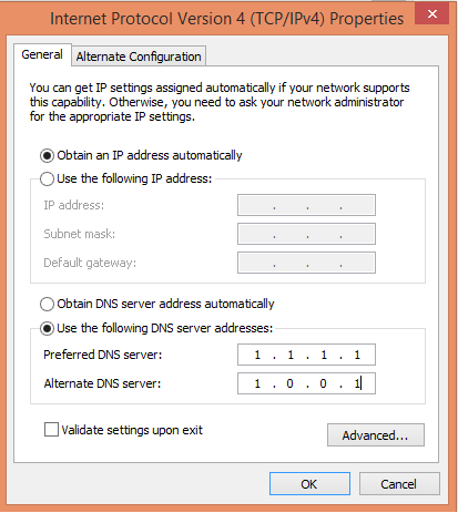 Cloudflare DNS without Filtering