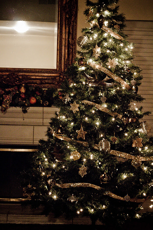 Overly Decorated Christmas Tree Gold