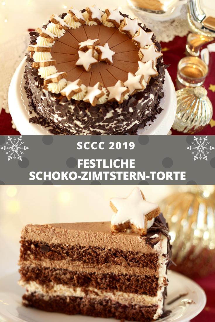 Schoko-Zimtstern-Torte - Rezept und Video von Sugarprincess | SCCC 2019: Türchen Nr. 8 | Gewinnspiel