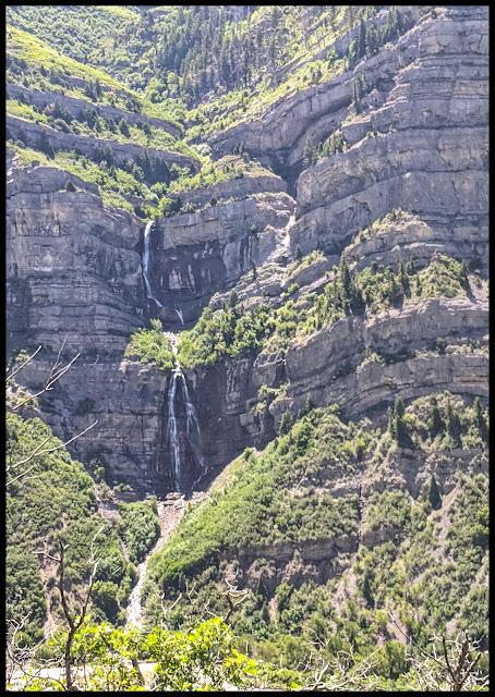 Views of Bridal Veil Falls from Lost Creek Falls Trail
