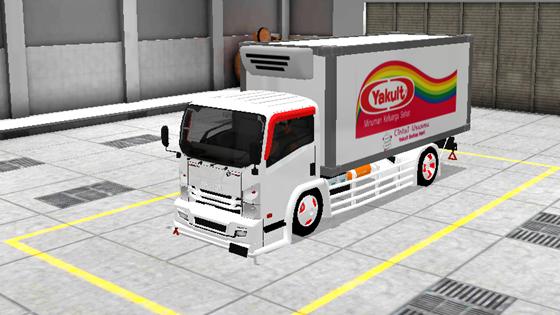 livery mod truck isuzu nmr71 box bussid yakult