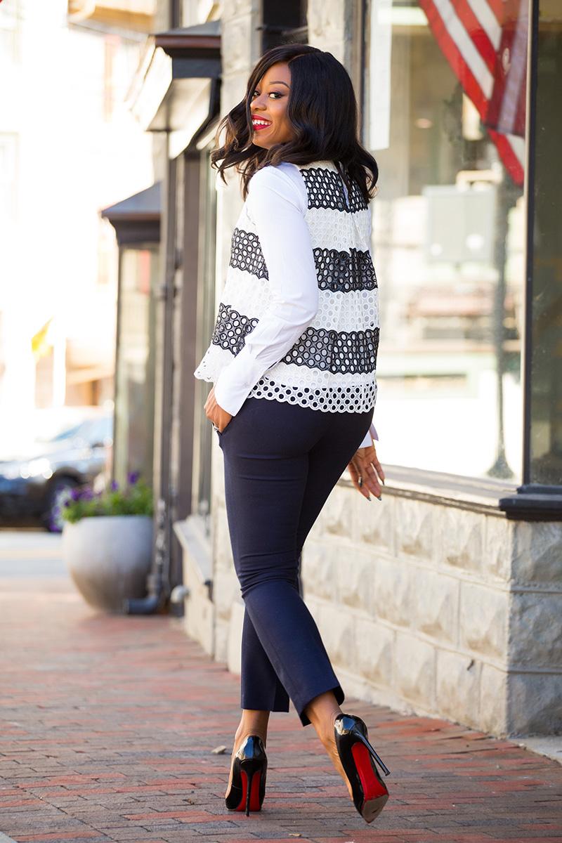 work style, anthropologie lanosa shell top, jcrew ankle pants, jadore-fashion.com