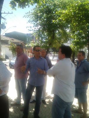 Vistoria técnica na Rua Fonte do Boi