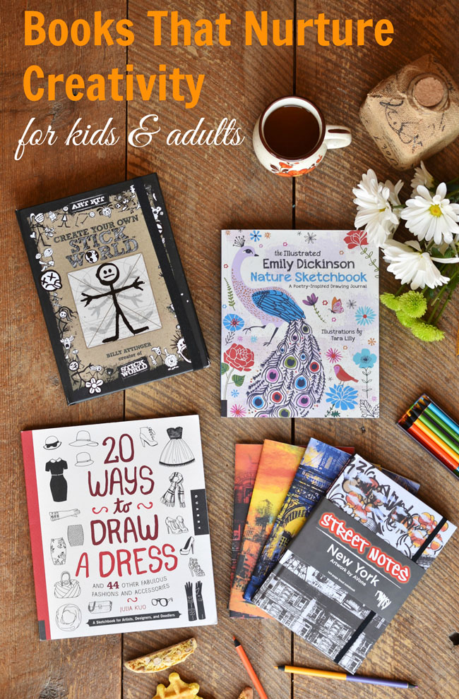 Books to nurture creativity for the whole family - besides being really beautiful, these books will get the family coloring, drawing, writing and creating together! #art #crafts #drawing #family #fun #bookreview