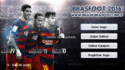 Skin do Trio MSN - Messi - Suarez - Neymar para Brasfoot 2016
