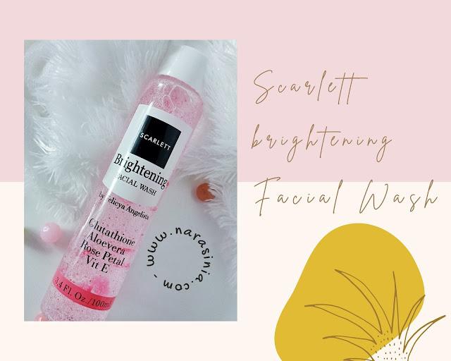 scarlett facial wash brightening