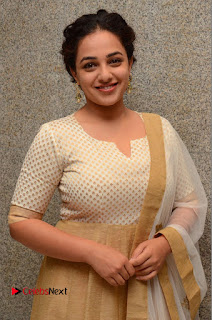 Actress Nithya Menen Pictures at 100 Days of Love Pre Release Press Meet 0016