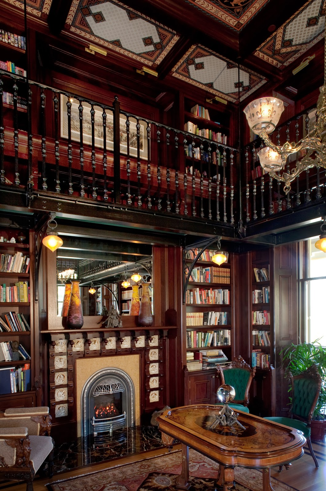 Home Library Room: Rynerson OBrien Architecture, Inc.: The McDonald Mansion's